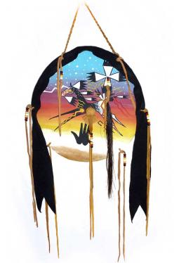 Lakota Medicine Horse Shield - Schutzschild Medizinpferd